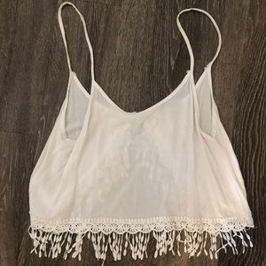 White tank crop with open back